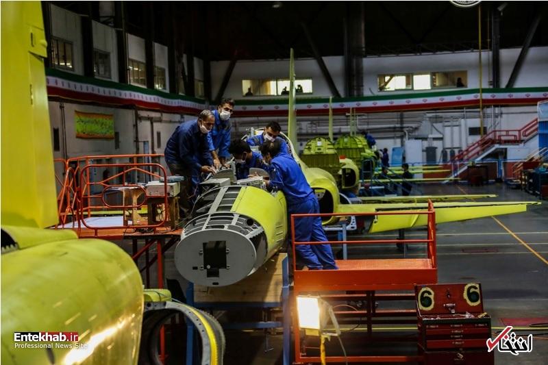 عکس/ افتتاح خط تولید انبوه جنگنده تمام ایرانی کوثر