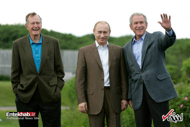 جورج بوش پدر به روایت تصویر