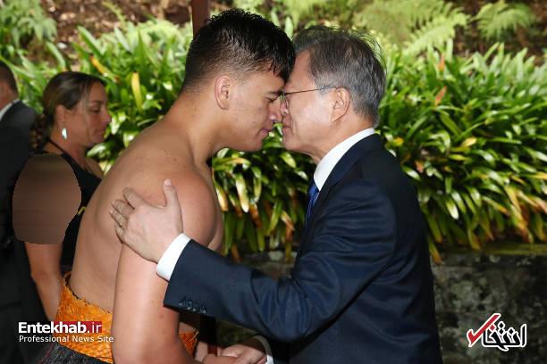 عکس/ استقبال عجیب از رئیس جمهور کره جنوبی در نیوزیلند