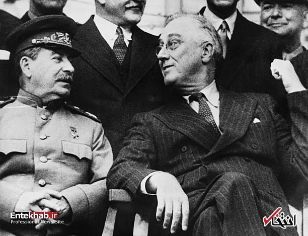تصاویر : چرچیل، استالین و روزولت در تهران