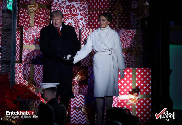 تصاویر : ترامپ و همسرش