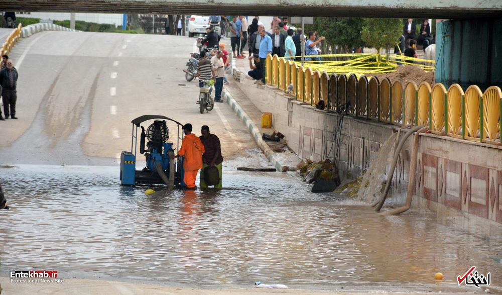 تصاویر : طغیان رودخانه کارون