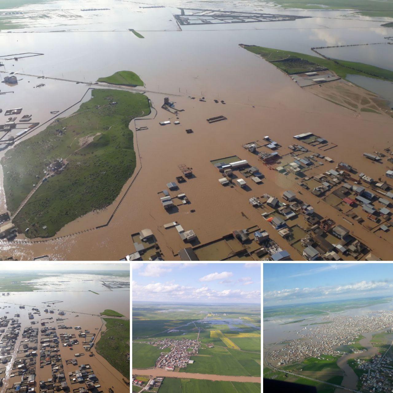 مردم سیمین شهر و روستاهای حاشیه گرگانرود در گمیشان خانه های خود را تخلیه کنند