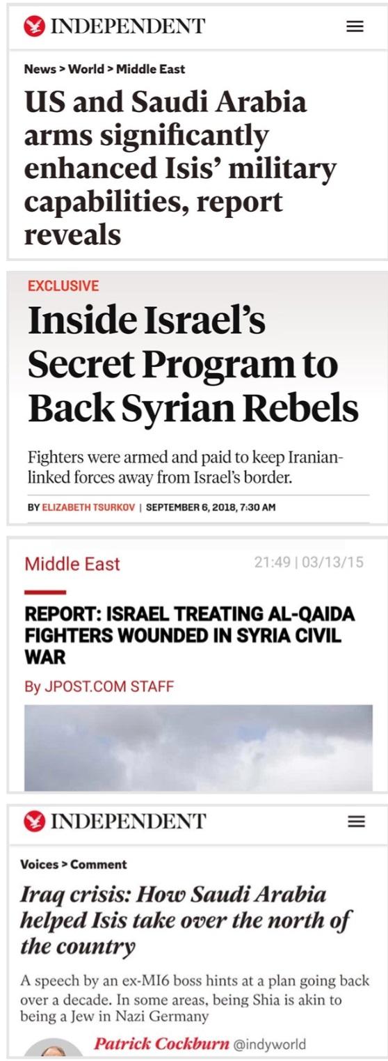 ظریف به تلآویو، واشنگتن و ریاض: بازی تمام شده، نمیتوانید داعش را احیا کنید