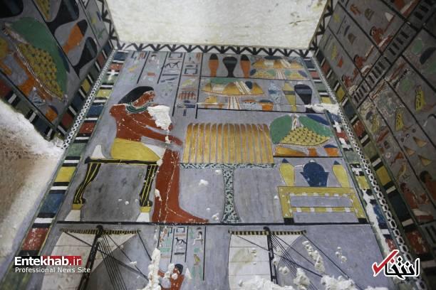 تصاویر : رونمایی از مقبره تازه کشف شده فراعنه مصر