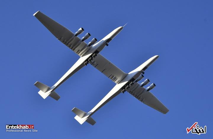 عکس/ پرواز بزرگترین هواپیمای جهان