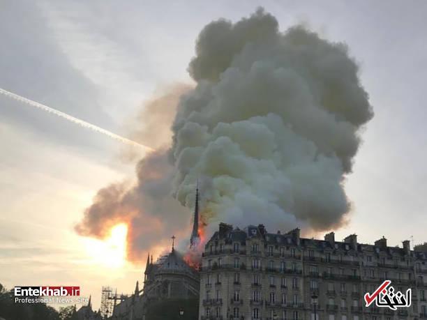 تصاویر: آتش سوزی مهیب در کلیسای ۸۵۰ ساله نوتردام - 2