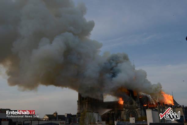 تصاویر: آتش سوزی مهیب در کلیسای ۸۵۰ ساله نوتردام - 3