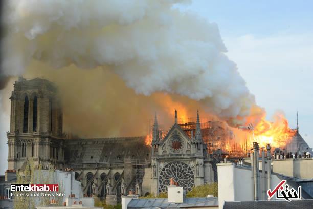 تصاویر: آتش سوزی مهیب در کلیسای ۸۵۰ ساله نوتردام - 4