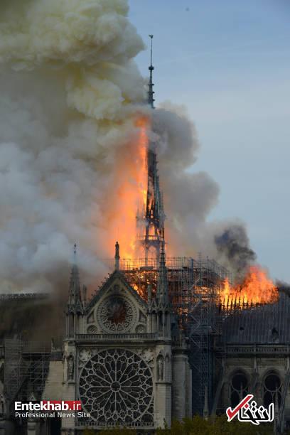 تصاویر: آتش سوزی مهیب در کلیسای ۸۵۰ ساله نوتردام - 6