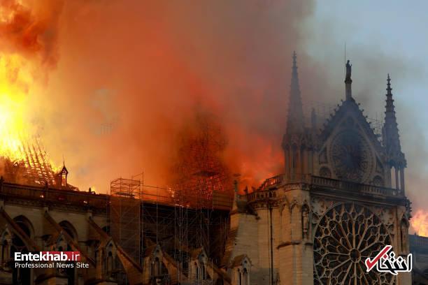 تصاویر: آتش سوزی مهیب در کلیسای ۸۵۰ ساله نوتردام - 7