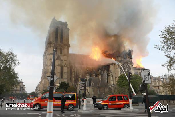 تصاویر: آتش سوزی مهیب در کلیسای ۸۵۰ ساله نوتردام - 8