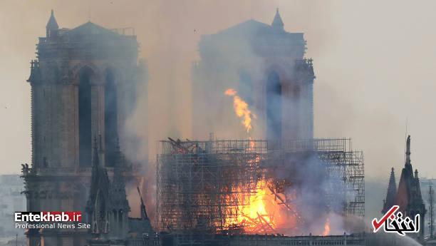 تصاویر: آتش سوزی مهیب در کلیسای ۸۵۰ ساله نوتردام - 9