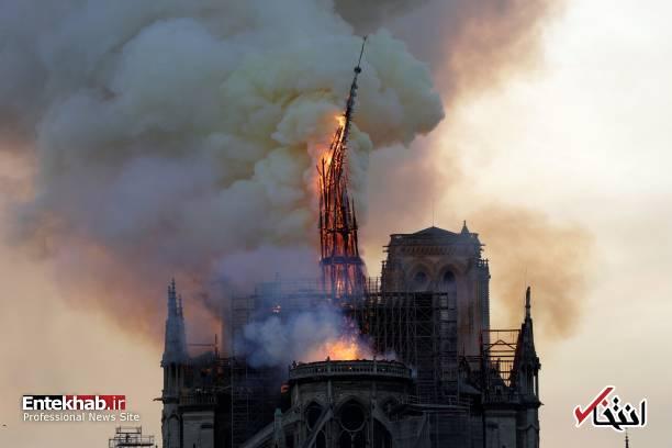 تصاویر: آتش سوزی مهیب در کلیسای ۸۵۰ ساله نوتردام - 12