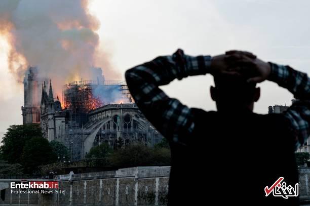 تصاویر: آتش سوزی مهیب در کلیسای ۸۵۰ ساله نوتردام - 13