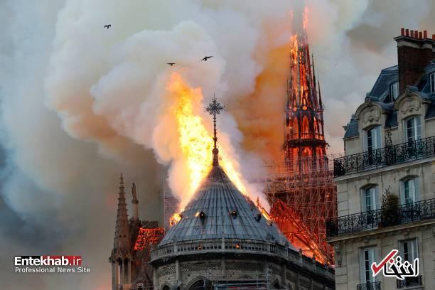 تصاویر: آتش سوزی مهیب در کلیسای ۸۵۰ ساله نوتردام - 14