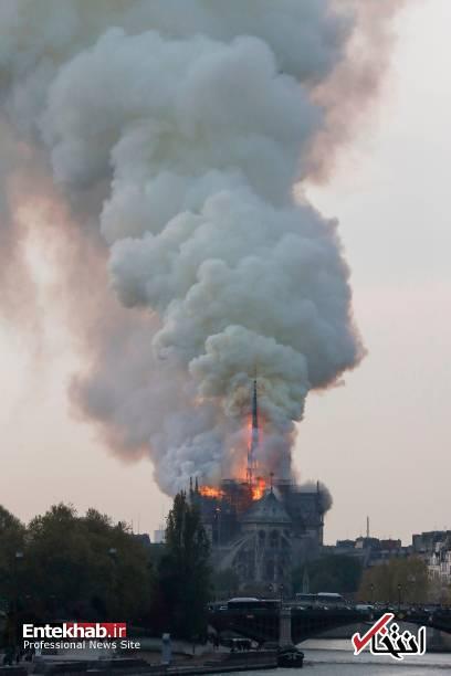 تصاویر: آتش سوزی مهیب در کلیسای ۸۵۰ ساله نوتردام - 15