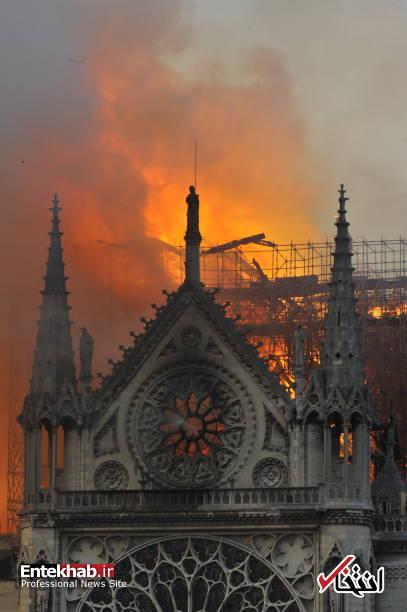 تصاویر: آتش سوزی مهیب در کلیسای ۸۵۰ ساله نوتردام - 16