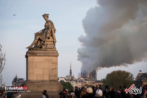 تصاویر: آتش سوزی مهیب در کلیسای ۸۵۰ ساله نوتردام - 17