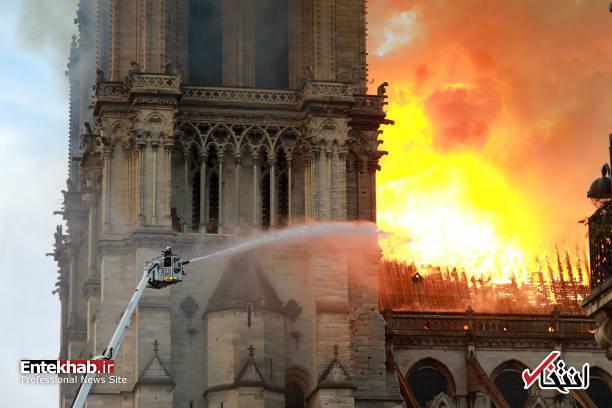 تصاویر: آتش سوزی مهیب در کلیسای ۸۵۰ ساله نوتردام - 18
