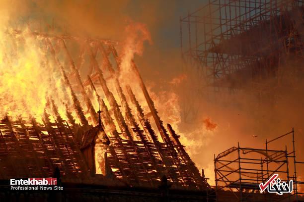 تصاویر: آتش سوزی مهیب در کلیسای ۸۵۰ ساله نوتردام - 19