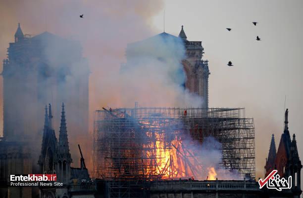 تصاویر: آتش سوزی مهیب در کلیسای ۸۵۰ ساله نوتردام - 20