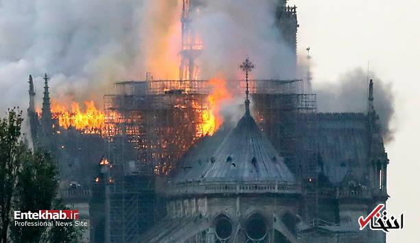 تصاویر: آتش سوزی مهیب در کلیسای ۸۵۰ ساله نوتردام - 21
