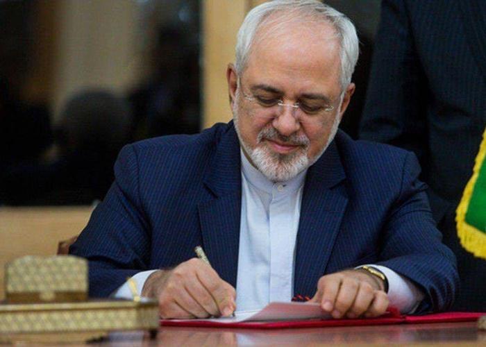 Image result for نامه مهم وزیر امور خارجه به همتایان خود در جهان