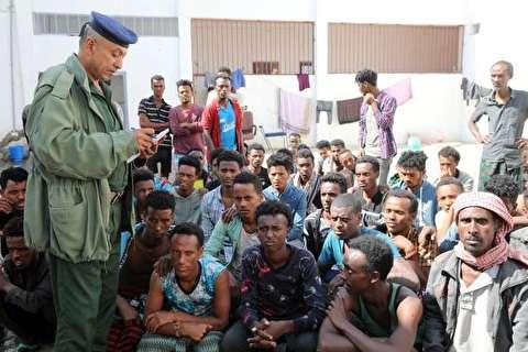 تصاویر : مهاجران غیرقانونی گرفتار در یمن