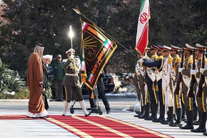 تصاویر : استقبال رئیس جمهور از امیر قطر