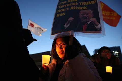 تصاویر : تظاهرات مردم کره جنوبی علیه ترامپ و در حمایت از ایران