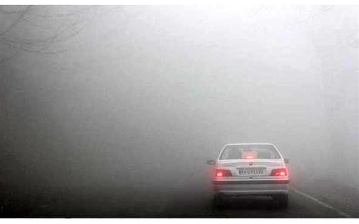 وضعیت جوی و ترافیکی راههای کشور / مه گرفتگی در محورهای ١٠استان