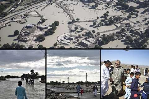 جنوب شرق ایران پس از باران/ امدادرسانی به سیلزدگان ادامه دارد