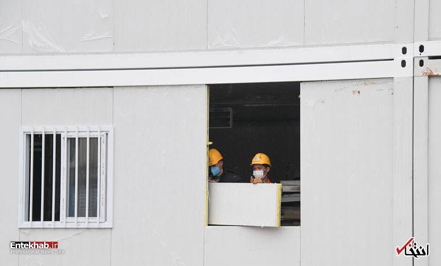 تصاویر : تکمیل شدن بیمارستان هزار تختخوابی چین
