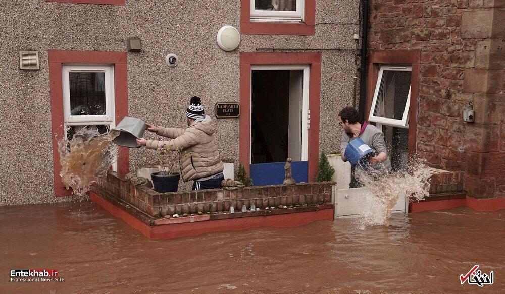 تصاویر : سیل و طوفان در اروپا