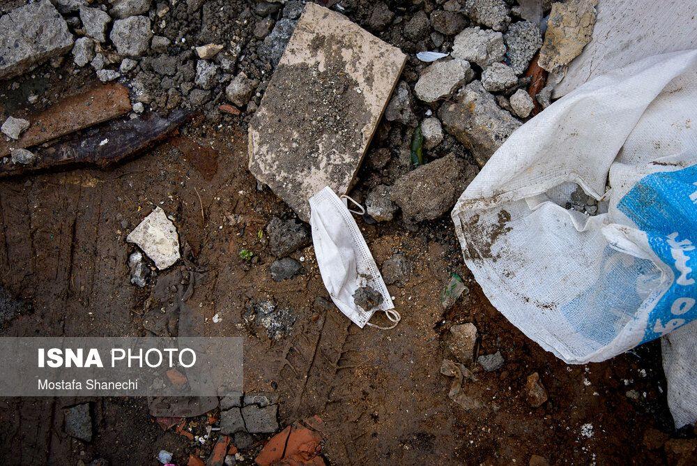 تصاویر: رهاسازی ماسکها و دستکشها در معابر شهر تهران