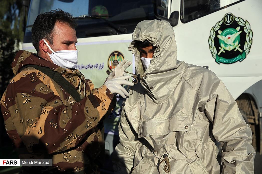 تصاویر: رزمایش مشترک ارتش و سپاه علیه کروناویروس