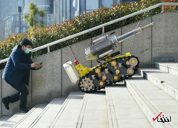828945 154 - نگاهی به فعالیت ربات های ضدعفونی کننده در چین+تصاویر