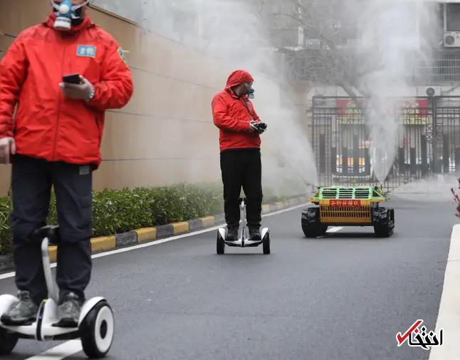 828947 405 - نگاهی به فعالیت ربات های ضدعفونی کننده در چین+تصاویر