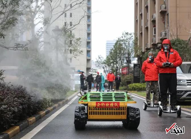 828950 421 - نگاهی به فعالیت ربات های ضدعفونی کننده در چین+تصاویر
