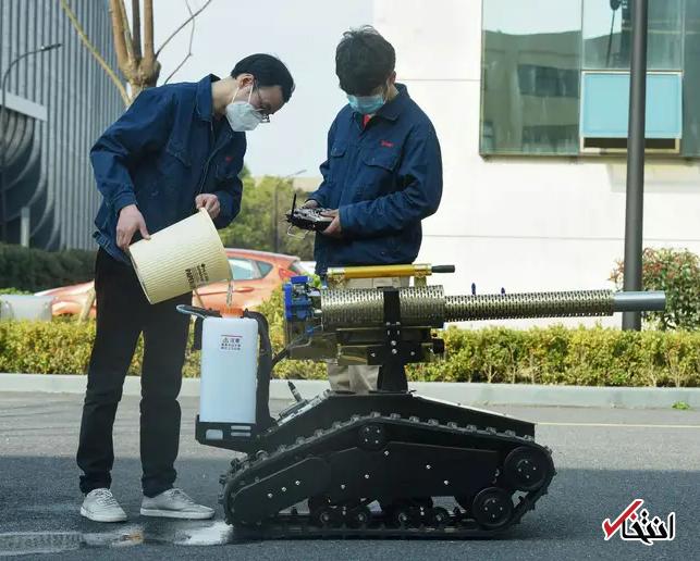 828952 822 - نگاهی به فعالیت ربات های ضدعفونی کننده در چین+تصاویر