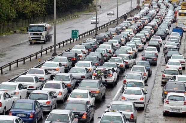 ترافیک پرحجم در مسیر کرج به تهران