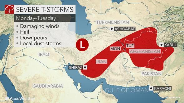 هشدار پایگاه هواشناسى بینالمللى، درباره دور جدید بارشهاى خطرناک در ایران
