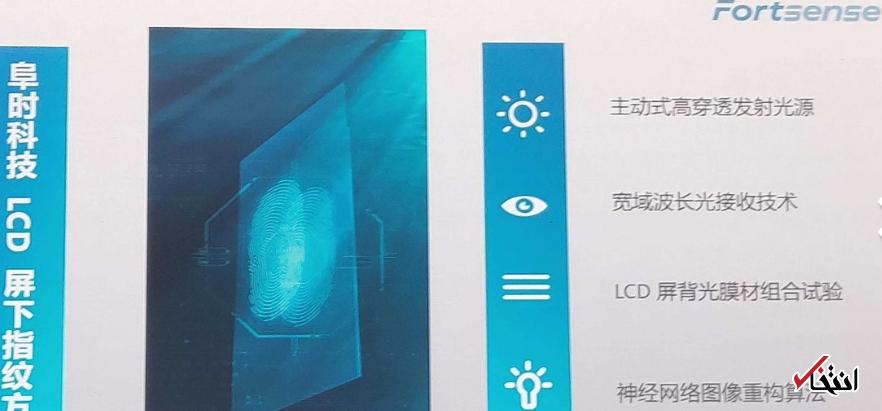 گوشی هوشمند ارزان تر می شود؟ / ابتکار چینی ها برای تولید اسکنر اثرانگشت ویژه LCD