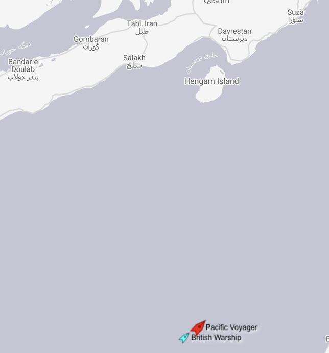 تایم: نیروی دریایی انگلیس، نفتکش انگلیسی را در تنگه هرمز اسکورت کرد