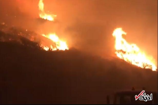 صدها نفر به دلیل آتش سوزی شدید در جزیره «گرن کاناریا» آواره شدند