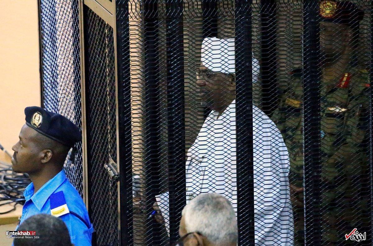 تصاویر : محاکمه عمر البشیر در قفس