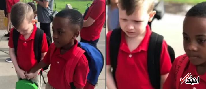 زیباترین دلداری دنیا در روز اول مدرسه ثبت شد / درمان اوتیسم با داروی مهربانی