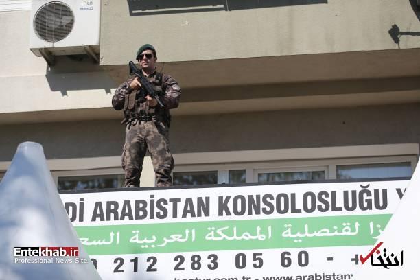 تصاویر : رونمایی از بنای یادبود خاشقجی مقابل کنسولگری عربستان در استانبول