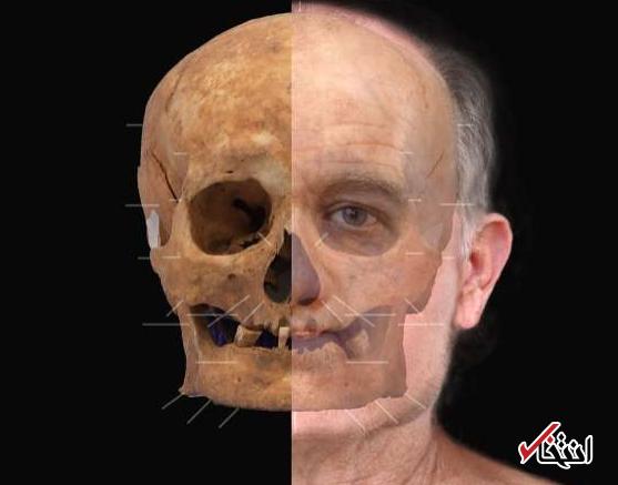 بازسازی چهره یک مرد قرون وسطایی از روی اسکلت 600 ساله